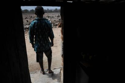 Hildefonso Santos, 64, stands inside his homestead where he has been waiting for the past two years for rain to fall, in the town of Uaua, in the part of Bahia State declared to be in a drought emergency.